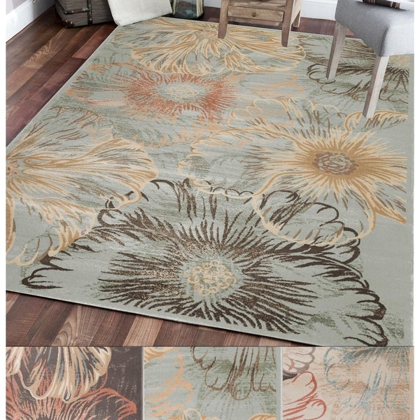 Admire Home Living Gallina Flower Area Rug (3'3 x 4'11)