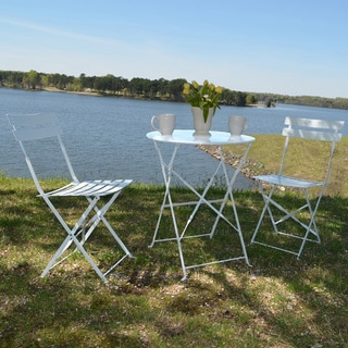 Chestertown Powder-coated Steel 3-piece Bistro set