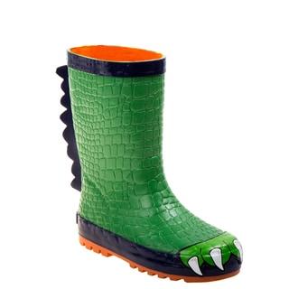 Joseph Allen Boys' Reptile Green Rubber Rain Boots