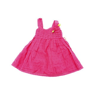 Sweet Heart Rose Girls' Pink Cotton 6-9 Months 2-piece Sleeveless Baby Outfit