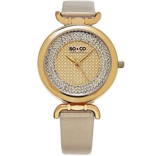 SO&CO New York Women's SoHo Leather/Mineral Strap Watch