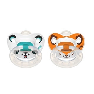 Nuk Animal Faces Rubber/Silicone Size 2 Orthodontic Pacifier (Pack of 2)
