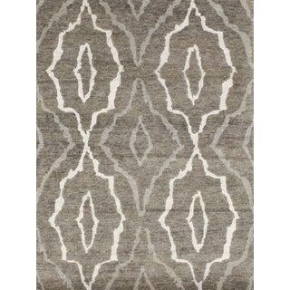Handmade Relaxed Modern Design Grey Area Rug (4' x 6')