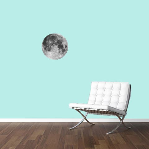 Printed Moon Vinyl Wall Decal
