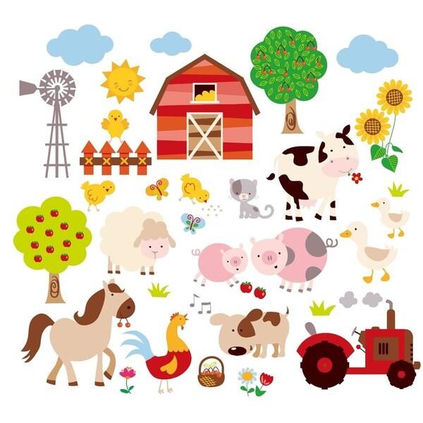 Kids Room Wall Decals Farm Wall Decals Farm Animal Decals: Shop Farm Friends Peel & Stick Kids Room/Nursery Wall