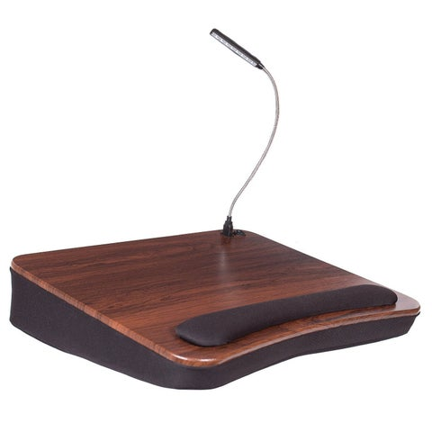 Sofia + Sam Memory Foam Wood Lap Desk with USB Light