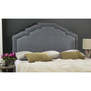 Safavieh Alexia Grey Upholstered Headboard - Silver Nailhead (King)
