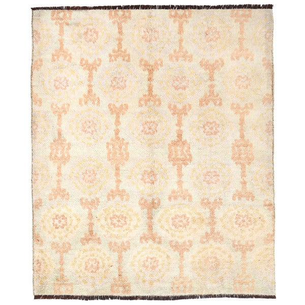 Herat Oriental Afghan Hand-knotted Gabbeh Wool Rug (7'3 x 8'10)
