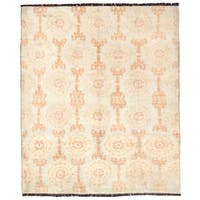 Herat Oriental Afghan Hand-knotted Gabbeh Wool Rug (7'3 x 8'10) - 7'3 x 8'10