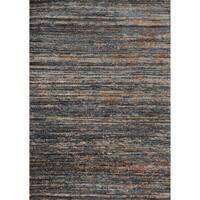 Abstract Dark Grey/ Orange Mid-century Rug - 6'7 x 9'2