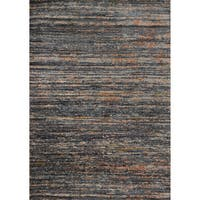 Phaedra Abstract Slate/ Orange Rug - 3'11 x 5'9