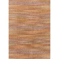 Abstract Orange/ Pink Mid-century Area Rug - 5' x 7'6""