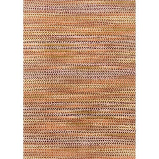 Phaedra Abstract Orange/ Sunset Rug (3'11 x 5'9)