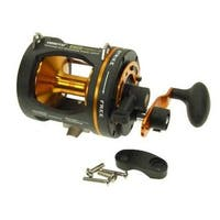 Omoto T30-II GTR Black/Gold Aluminum/Stainless Steel Large 2-speed Graphite Lightweight Reel