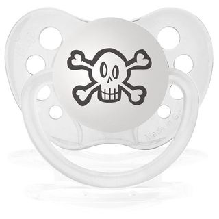 Personalized Pacifiers White Skull Pacifier