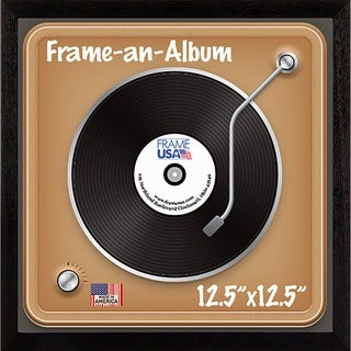Frame-an-Album Wooden 12.5-inch x 12.5-inch Record Frame