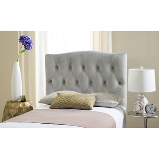 Safavieh Axel Pewter Linen Upholstered Tufted Headboard (Twin)