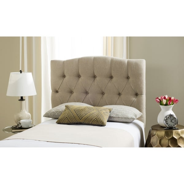 b21bdc9a331b4 Shop Safavieh Axel Hemp Linen Upholstered Tufted Headboard (Twin) - Free  Shipping Today - Overstock - 11923942