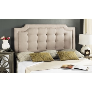 Safavieh Saphire Taupe Upholstered Tufted Headboard (Full)