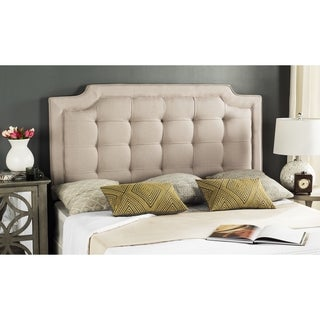 Safavieh Saphire Taupe Upholstered Tufted Headboard (King)