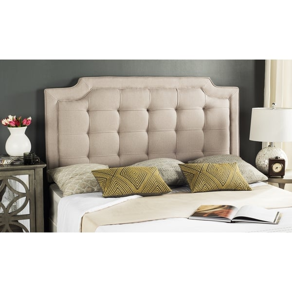 Safavieh Saphire Taupe Upholstered Tufted Headboard (Queen)