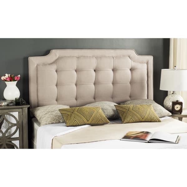 competitive price 0f5c1 e4ca8 Safavieh Saphire Taupe Upholstered Tufted Headboard (Queen)