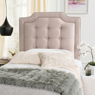 Safavieh Saphire Taupe Upholstered Tufted Headboard (Twin)