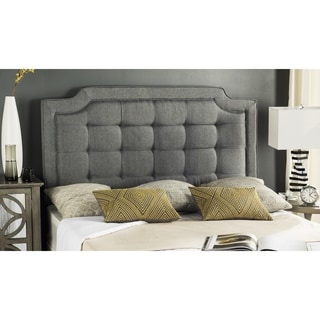 Safavieh Saphire Grey Upholstered Tufted Headboard (Full)