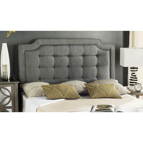 Safavieh Saphire Grey Upholstered Tufted Headboard (King)