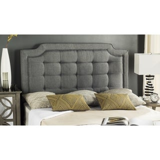 safavieh saphire grey upholstered tufted headboard king