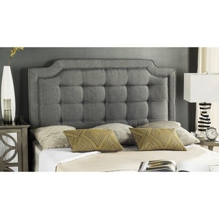 Link to Safavieh Saphire Grey Upholstered Tufted Headboard (King) Similar Items in Bedroom Furniture