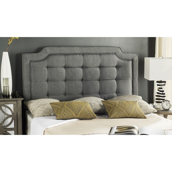 3928bd1742f4e5 Shop Safavieh Saphire Grey Upholstered Tufted Headboard (Queen)