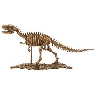 Brown Resin Prehistoric Dinosaur 23-inch-wide Statue
