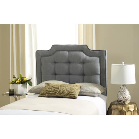 Safavieh Saphire Grey Upholstered Tufted Headboard (Twin)