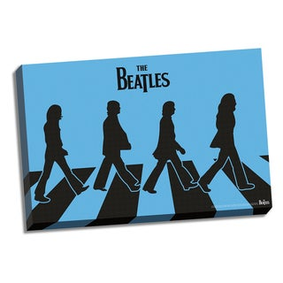 The Beatles Blue Silhouette Abbey Road 24x36 Canvas