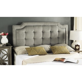 Safavieh Saphire Pewter Upholstered Tufted Headboard (King)