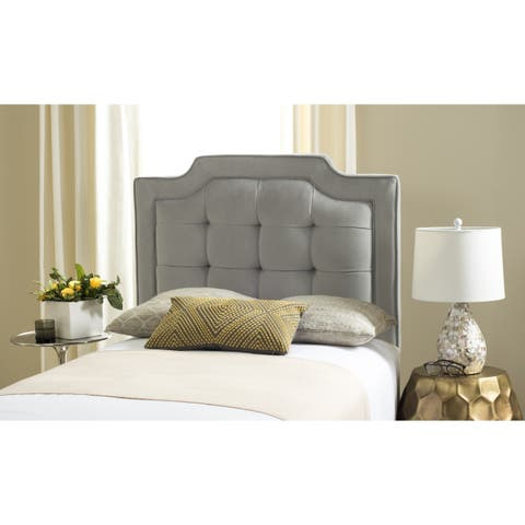 Safavieh Saphire Pewter Upholstered Tufted Headboard (Twin)