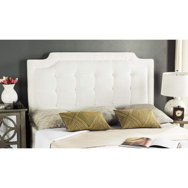 Safavieh Saphire White Upholstered Tufted Headboard Queen