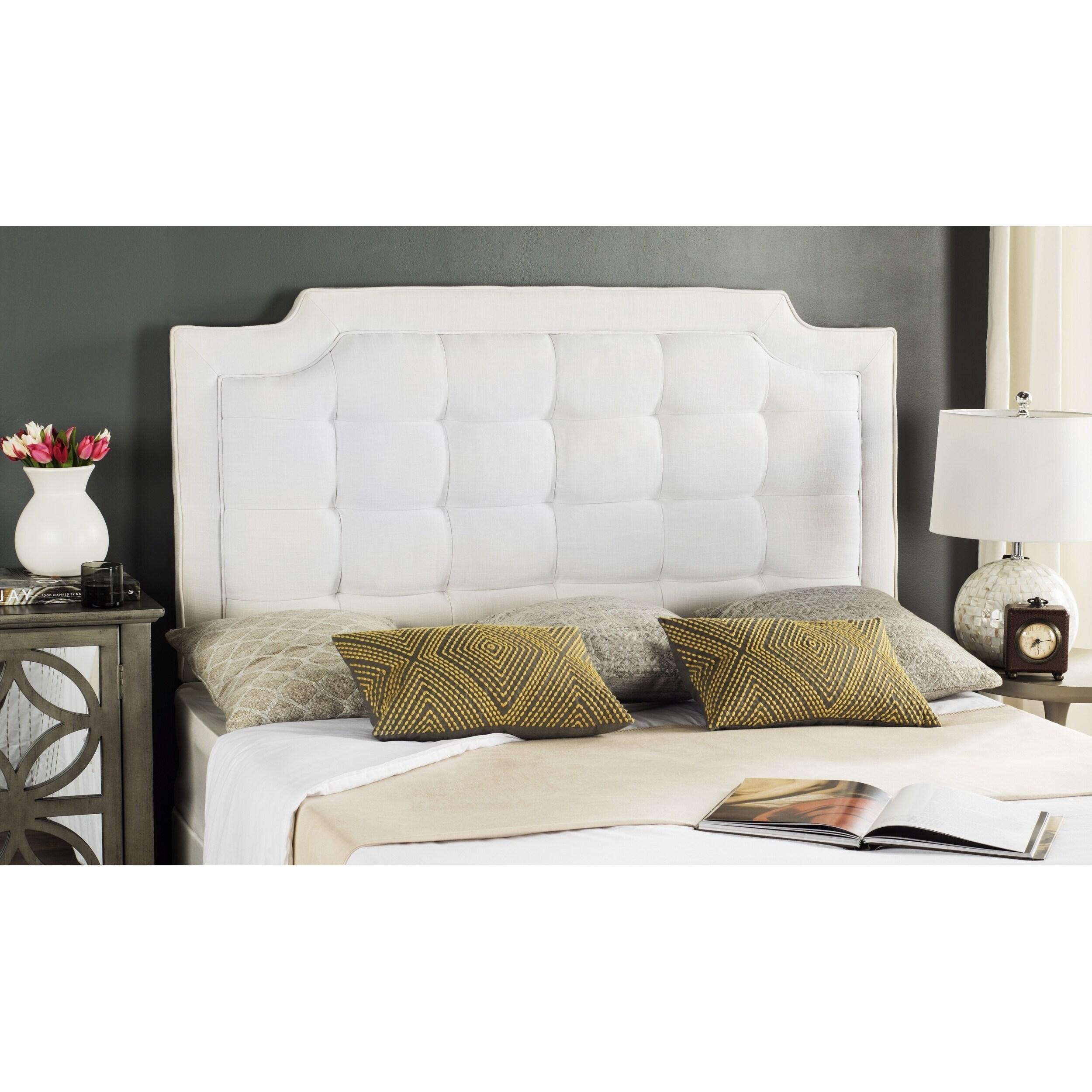 Safavieh Saphire Light Grey Upholstered Tufted Headboard (Full)