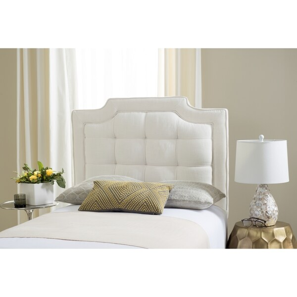 Safavieh Saphire Light Grey Upholstered Tufted Headboard Twin