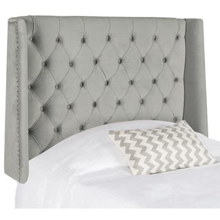 Safavieh London Pewter Upholstered Tufted Wingback Headboard (Queen)
