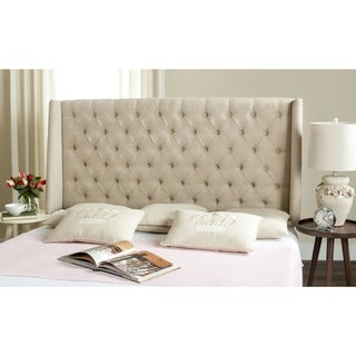 Safavieh London Hemp Upholstered Tufted Wingback Headboard (Queen)