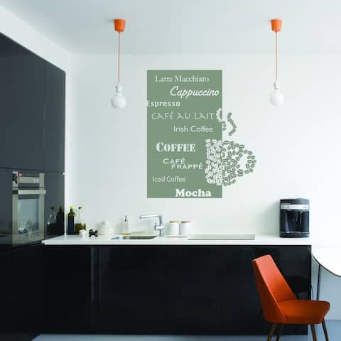 Style and Apply 'Coffee Deluxe' Vinyl Wall Decal