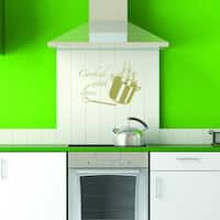 Style & Apply Cooking With Love Wall Decal Sticker