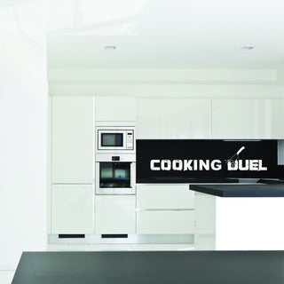 Style & Apply Cooking Duel Multicolored Vinyl Wall Decal