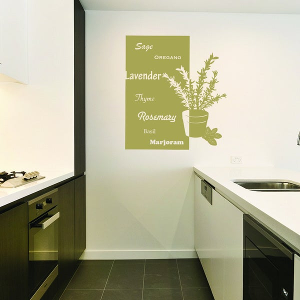 Style and Apply 'Art of Herbs' Vinyl Wall Decal