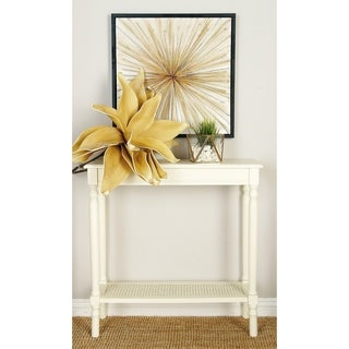 Off-white Wood Console Table