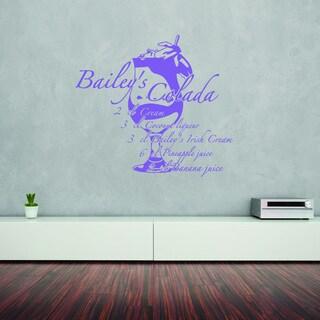 Bailey's Colada Vinyl Art Home Decor Wall Decal