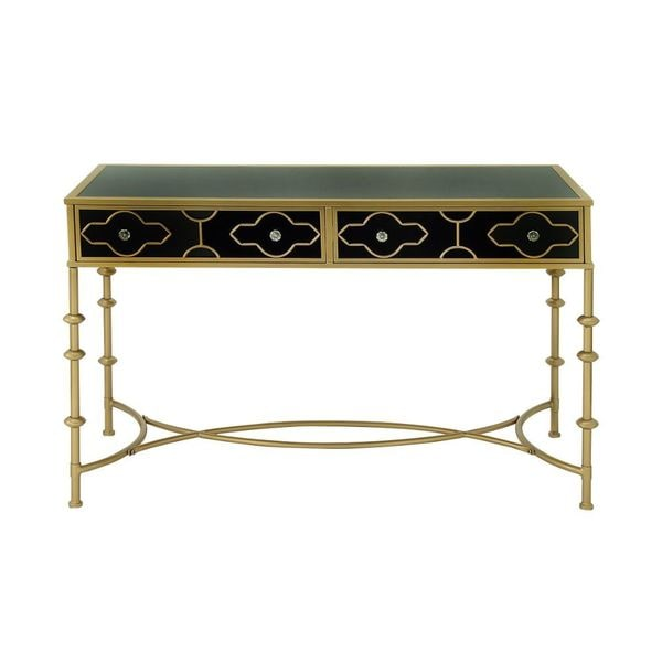 Black And Gold Metal Gl Console Table