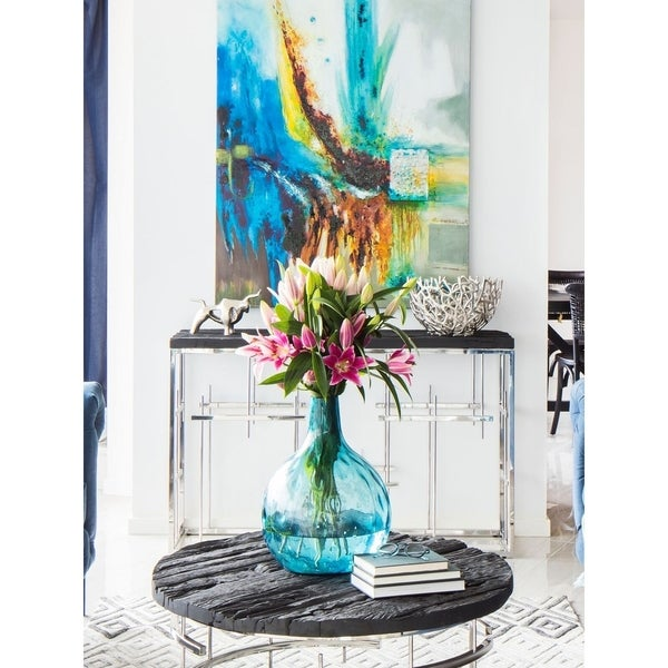 Aurelle Home Blue Ink Vase